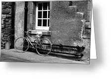 bicycle in Edinburgh close Greeting Card