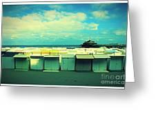 Blankenberge Beach Greeting Card