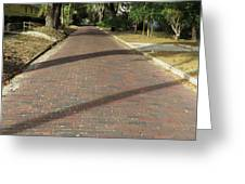 Brick Road In Palatka Florida Greeting Card