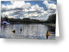 Buoys In The River Greeting Card