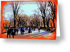 Central Park Mall Greeting Card
