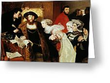 Christian II Signing The Death Warrant Of Torben Oxe  Greeting Card