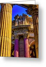 Columns Of The Palace Of Fine Arts Greeting Card