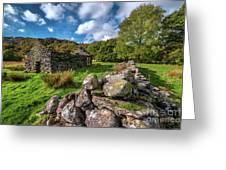 Cottage Ruin Snowdonia Greeting Card