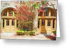 Courtyard Doors St Augustine 002 Greeting Card