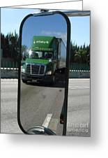 Green Freightliner Publix Greeting Card