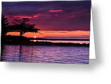 Detroit Point September Sunset Greeting Card
