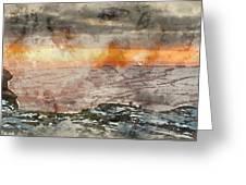 Digital Watercolor Painting Of Stunning Winter Panoramic Landsca Greeting Card