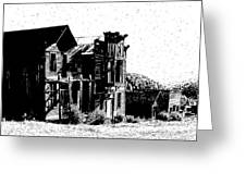 Elkhorn Ghost Town Montana Greeting Card