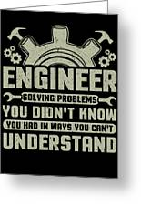 Engineer Problem Solver Engineering Career Greeting Card