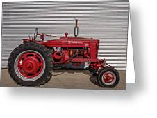 Farmall M And Steel Greeting Card