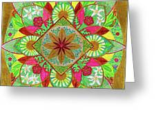 Flower Garden Mandala Greeting Card