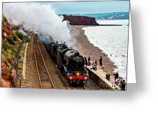 Flying Scotsman On An Evening Run Greeting Card