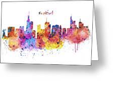 Frankfurt Skyline Greeting Card