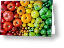Fresh Heirloom Tomatoes Background Greeting Card