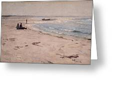 From The Beach At Sele  Greeting Card