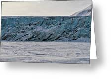 Glacier Front On Svalbard Greeting Card