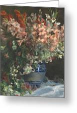 Gladioli In A Vase  Greeting Card