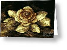 Antique Gold Rose Greeting Card