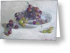 Greek Grapes Greeting Card