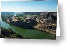 Green Snake River Greeting Card