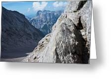 Grey Mountains Greeting Card