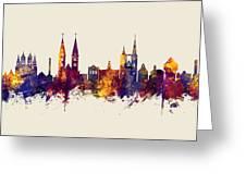 Halberstadt Germany Skyline Greeting Card