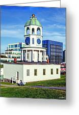 Halifax Town Clock 2017 Greeting Card