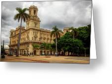 Havana's Palacio Del Centro Asturiano Greeting Card