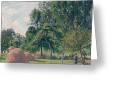 Haystacks, Morning, Eragny, 1899 Greeting Card
