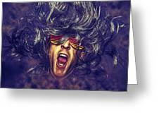 Heavy Metal Rock Star Greeting Card