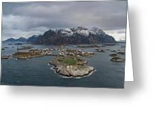Henningsvaer Lofoten Greeting Card