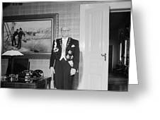 In The Photo The New President Of The Republic Urho Kekkonen Is Photographed At The Presidential Pa Greeting Card