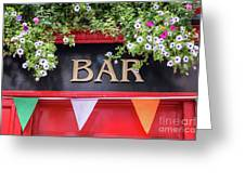 Irish Bar In Dublin Greeting Card