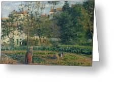 Kitchen Garden At The Hermitage, Pontoise, 1879 Greeting Card