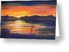 Lake Sunset  Greeting Card