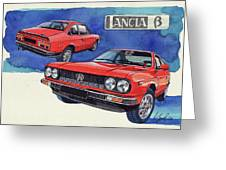 Lancia Beta 1300 Greeting Card