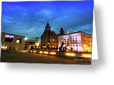 Liverpool's Historic Waterfront Greeting Card