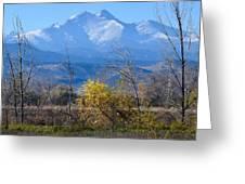 Longs Peak In The Fall  Greeting Card