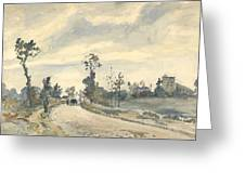 Louveciennes  Route De Saint   Germain  Greeting Card