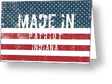 Made In Patriot, Indiana Greeting Card