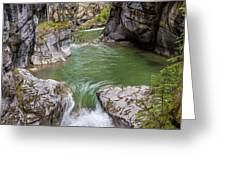 Maligne Canyon Greeting Card by Paul Schultz