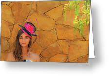 Mamin With Hat Greeting Card