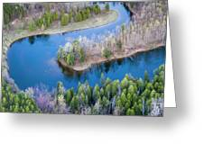 Manistee River Bend From Above Greeting Card