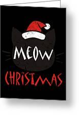 Meow Christmas Distressed Greeting Card