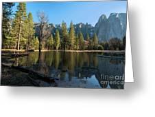 Merced River Reflection, Yosemite National Park Greeting Card