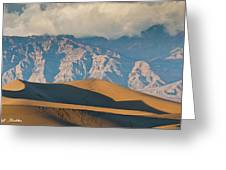 Mesquite Flat Sand Dunes At Sunset Greeting Card