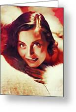 Michele Morgan, Vintage Actress Greeting Card