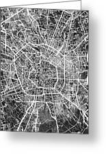 Milan Italy City Map Greeting Card