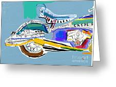 Motorcycle Image Which Consists Of Greeting Card